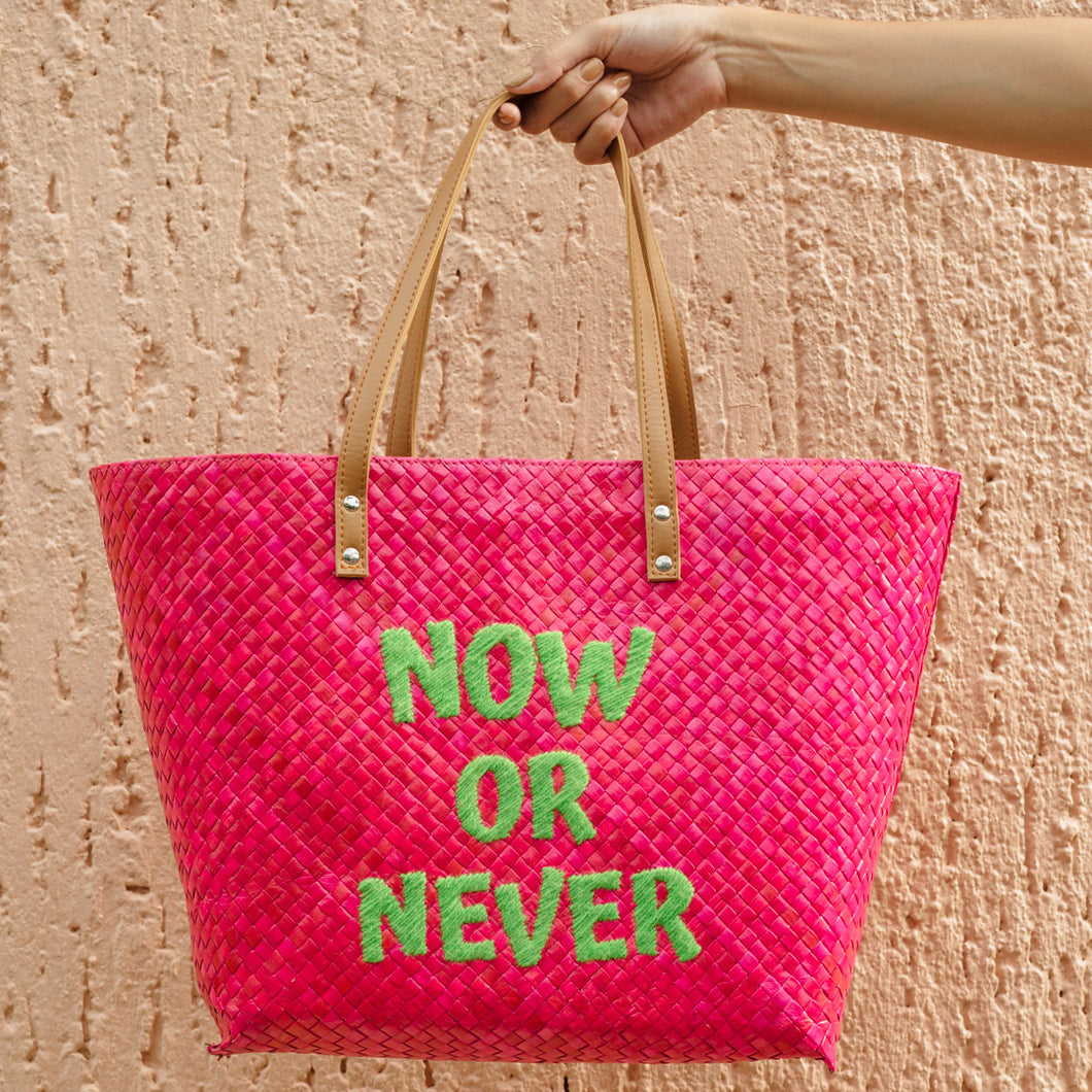 NOW OR NEVER Tote - Island Girl