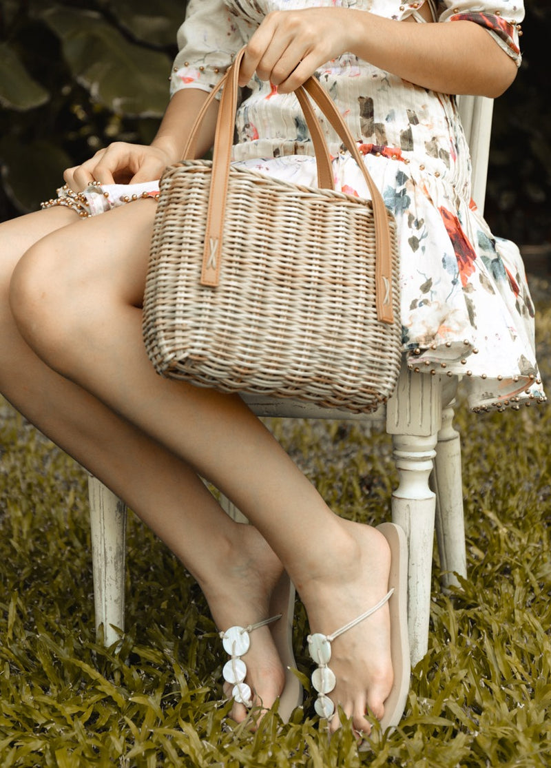 Lotte Wicker Handbag - Island Girl