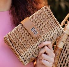 Load image into Gallery viewer, JASPER Wicker Clutch - Island Girl