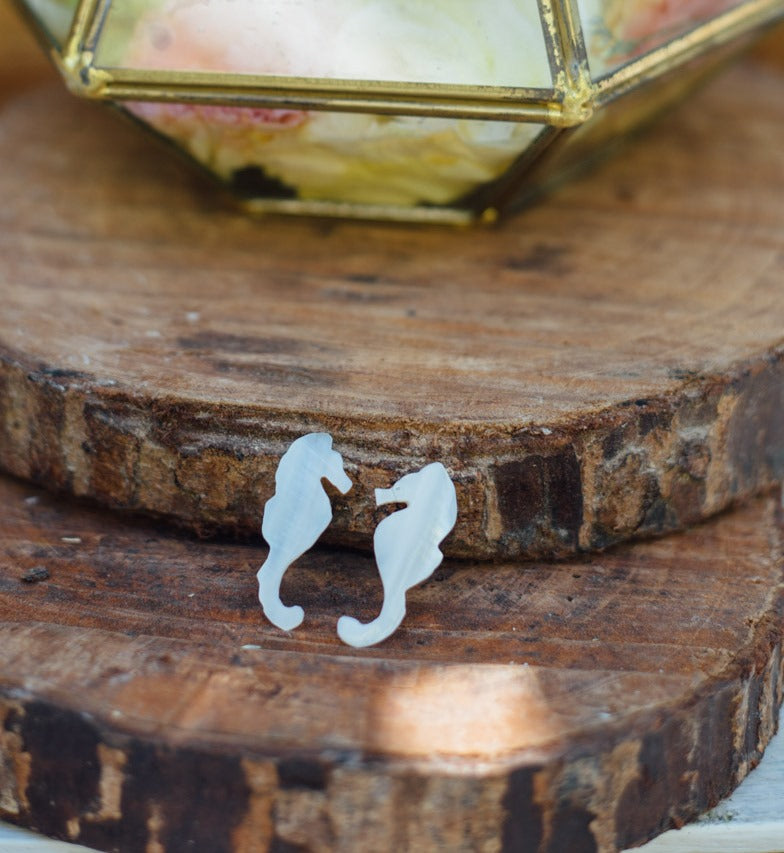 Seahorse Stud Earrings - Island Girl