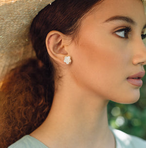 Gumamela Mother of Pearl Earrings - Island Girl