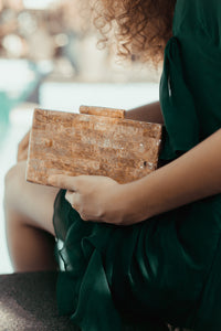 JULES Brown Lip Shell Clutch - Island Girl