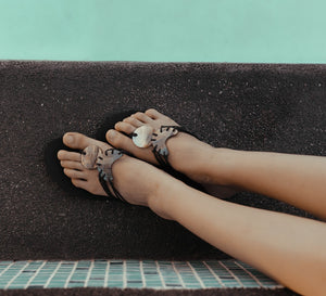 Sun & Moon Rubber Sandals - Island Girl