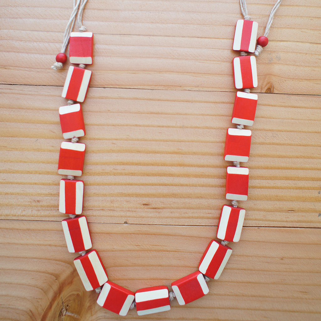 Jolene Necklace in Red