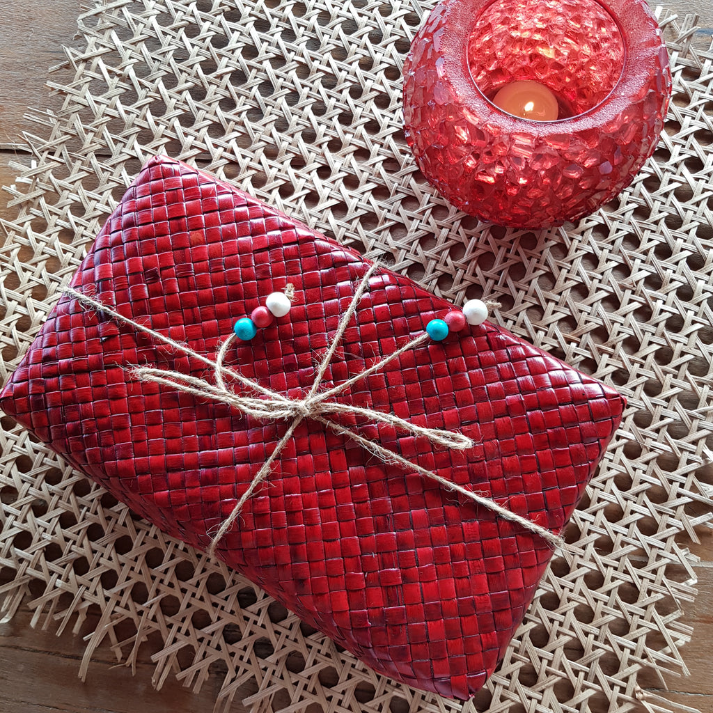 Large Sustainable Gift Box in Red
