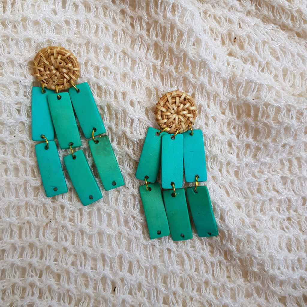 Leanna Earrings in Turquoise - Island Girl