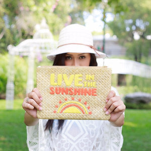 Quote Clutch: Live in the Sunshine - Island Girl