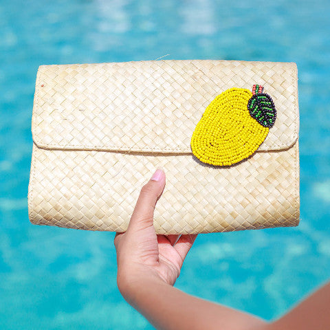 Applique Clutch Bag: Mango