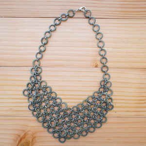 Mesh Bib Necklace in STONE - Island Girl