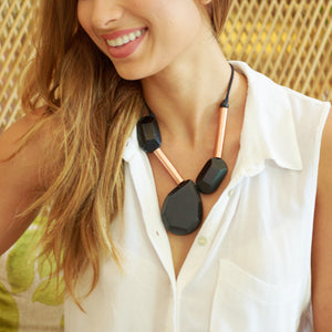 Ora Necklace in BLACK - Island Girl