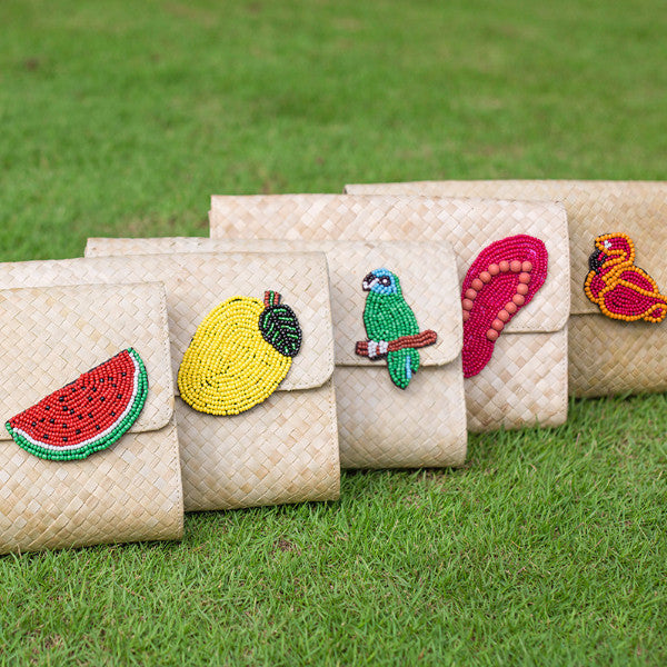 Applique Clutch Bag: Watermelon - Island Girl