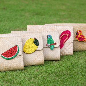 Applique Clutch Bag: Flipflop - Island Girl