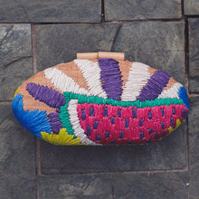 Load image into Gallery viewer, Embroidered Hard Clutch: Quinn - Island Girl