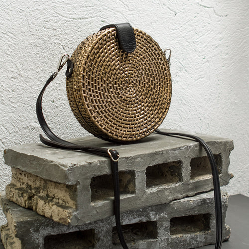 ALICIA Round Crossbody(Metallic) - Island Girl