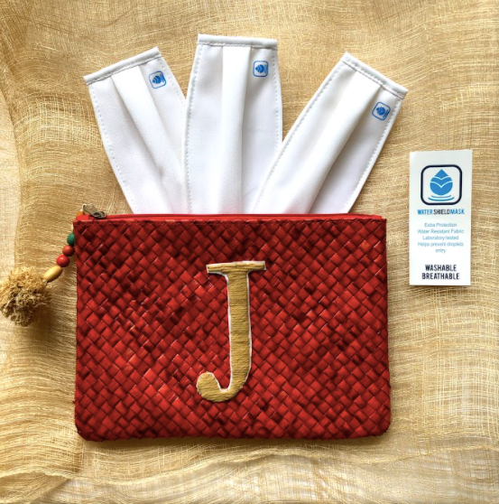 PRE-ORDER: Pandan Personalized Clutch with Masks