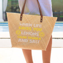 Load image into Gallery viewer, Quote Tote: When Life Gives You Lemons
