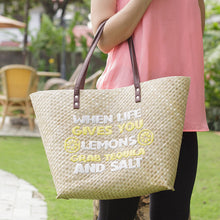 Load image into Gallery viewer, Quote Tote: When Life Gives You Lemons - Island Girl