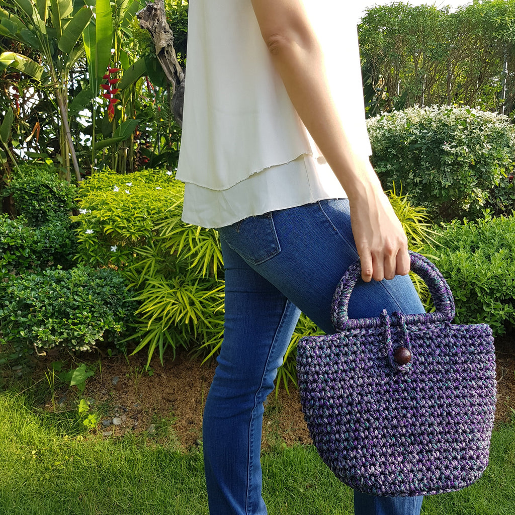 Zian Macramé Handbag (Purple) - Island Girl