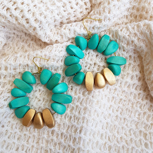 Brielle Earrings in Turquoise - Island Girl