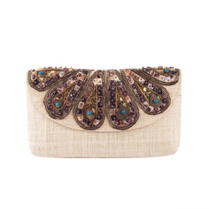 SANTA CLARA Raffia Date Night Clutch
