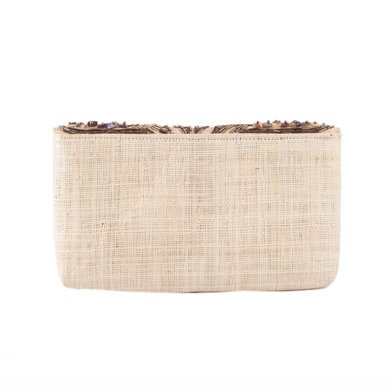 SANTA CLARA Raffia Date Night Clutch - Island Girl