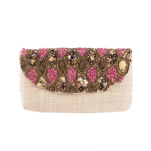 BARACOA Raffia Date Night Clutch