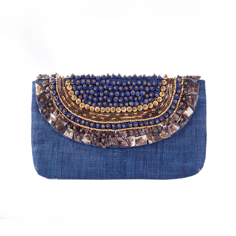 TRINIDAD Raffia Date Night Clutch