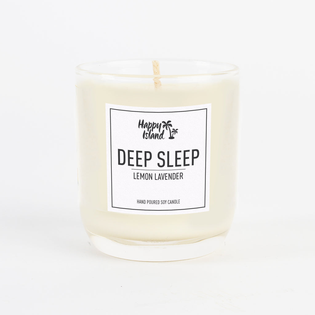 Happy Island Deep Sleep Lemon Lavender Soy Candle 8oz.