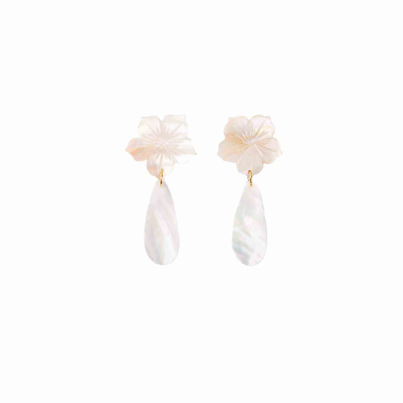 Maite Capiz Earrings - Island Girl