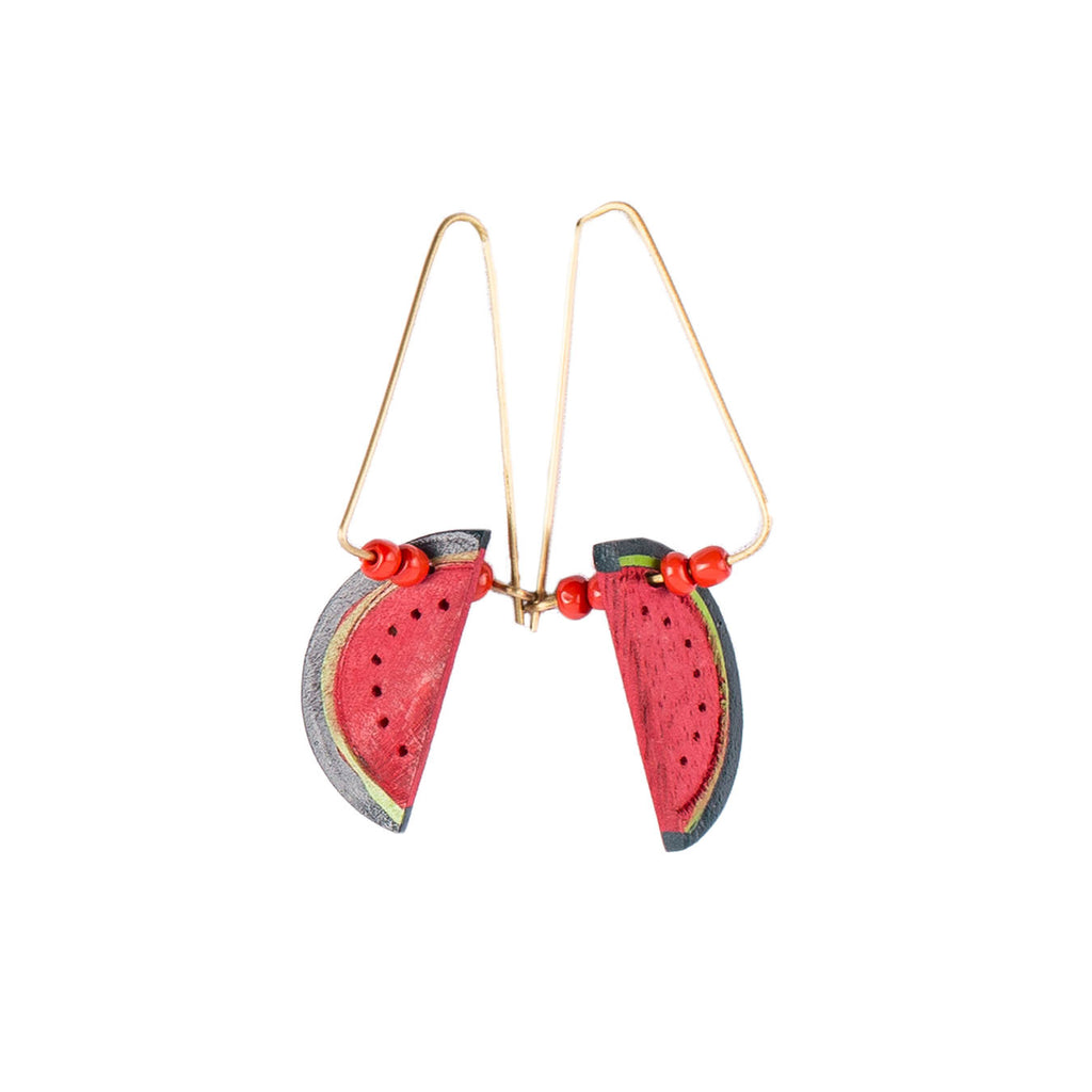 Dangling Watermelon Earrings - Island Girl