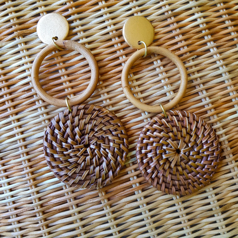 Isla Earrings in Brown - Island Girl