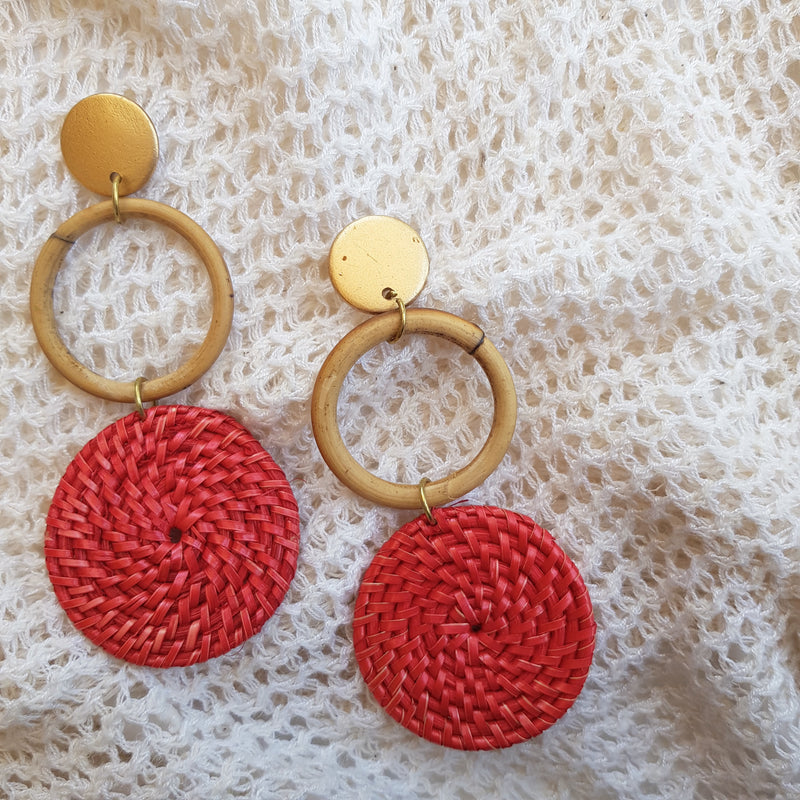 Isla Earrings in Coral - Island Girl