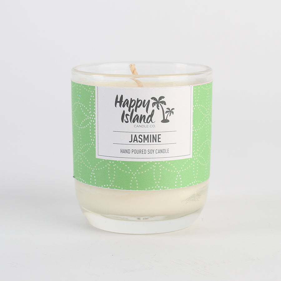 Happy Island Jasmine Soy Candle 8oz