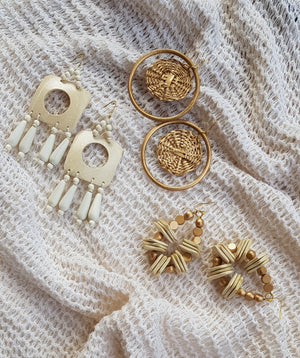 Madeline Earrings in Gold - Island Girl