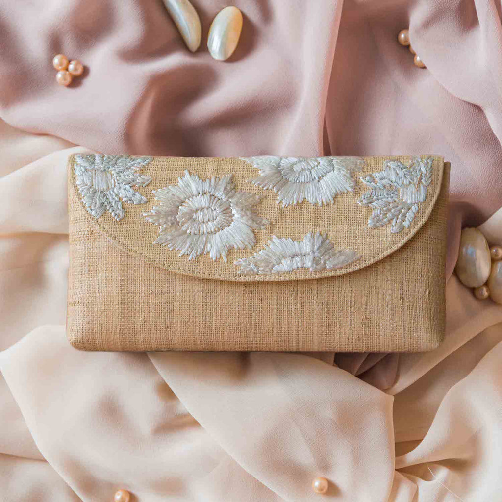 Casey Embroidered Envelope Clutch