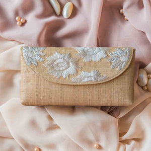 Casey Embroidered Envelope Clutch - Island Girl