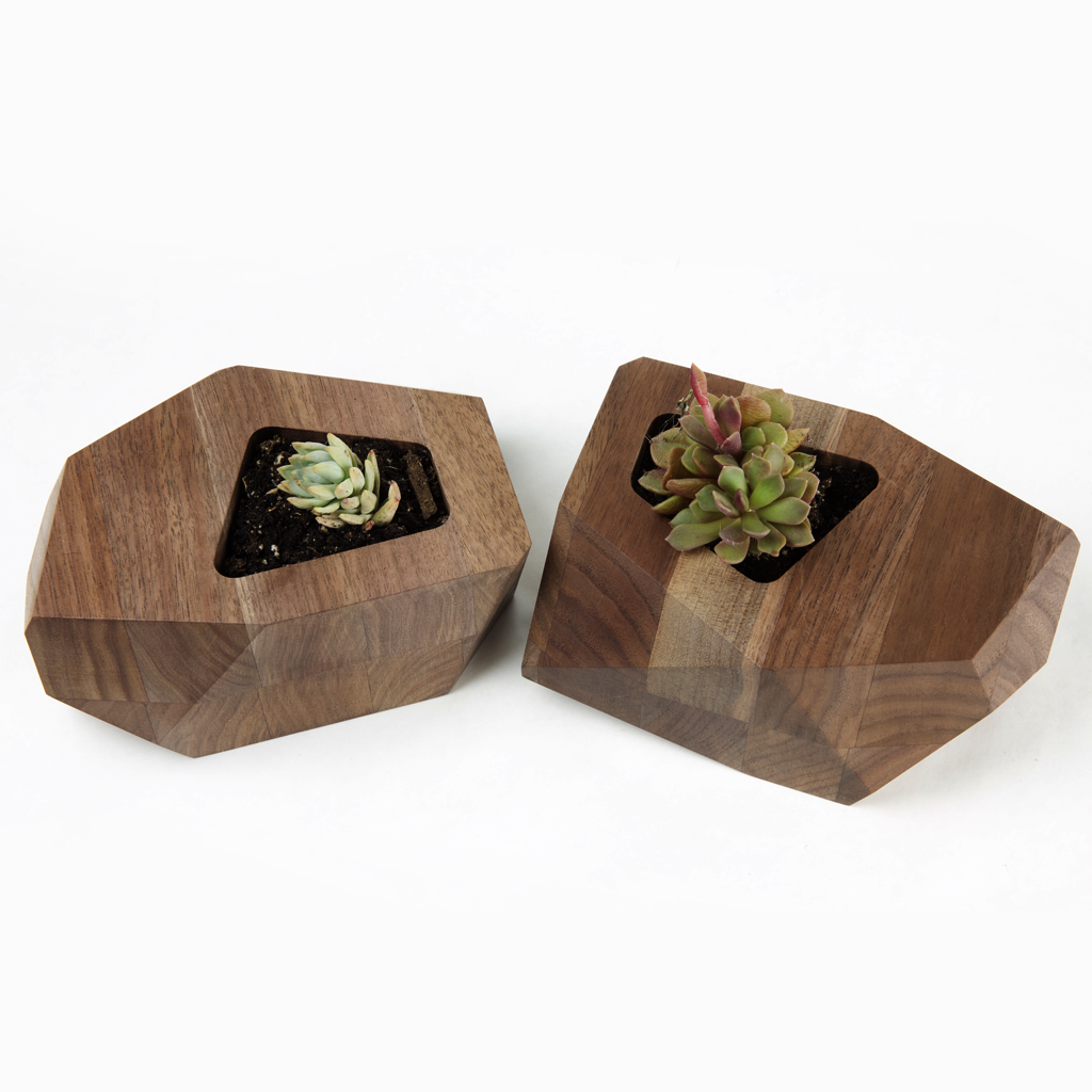 Gem Planter Home Goods- Multiply Studio | Hardwood Home Furniture and Accessories made in California