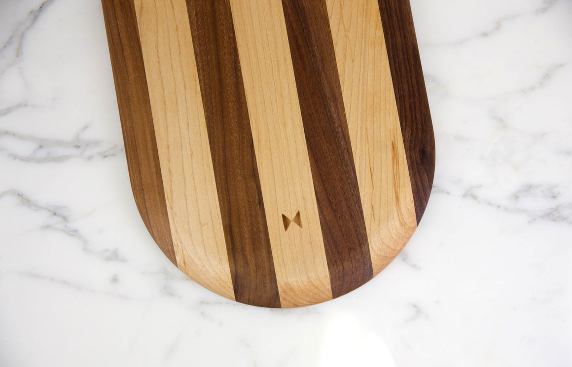 Stripe Pill Cutting Board - Multiply Studio | Hardwood Home Furniture and Accessories made in California