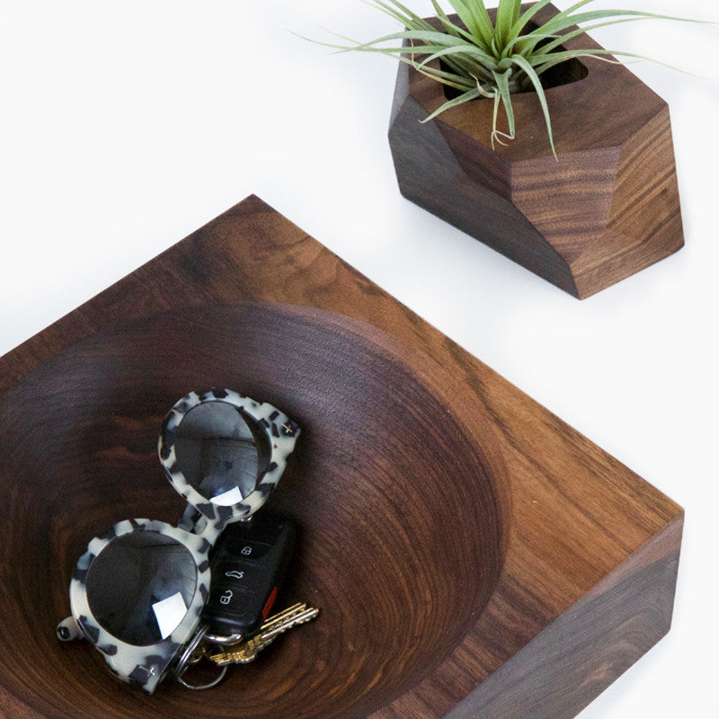 Square Peg, Big Bowl Bowls- Multiply Studio | Hardwood Home Furniture and Accessories made in California