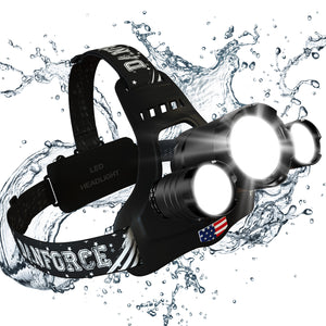 DanForce Bold-s LED Rechargeable Headlamp- 1080 Lumens