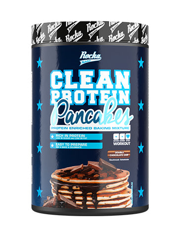 Clean Protein Pancakes | Double Chocolate Chip