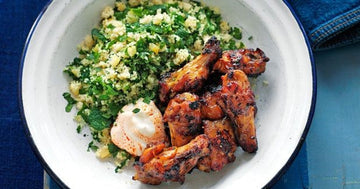 Moroccan Chicken Wings with Couscous