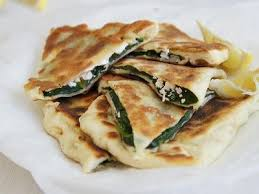Gozleme - Spinach and Cheese Recipe (serves 4)