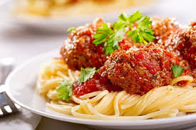 Italian Meatballs in a Rich Tomato Sauce with Spaghetti