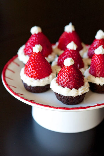 Choc Brownie Santa Hats