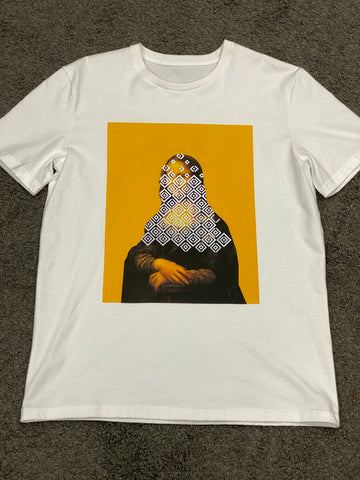 ISHU 3M Reflective Mona Lisa T-Shirt White