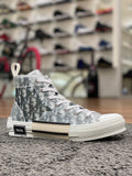 Dior B23 High Top Sneaker White Black Dior Oblique Canvas