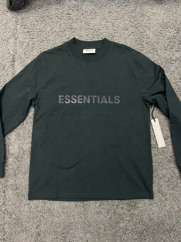 Fear of God Essentials Long Sleeve Black T-Shirt