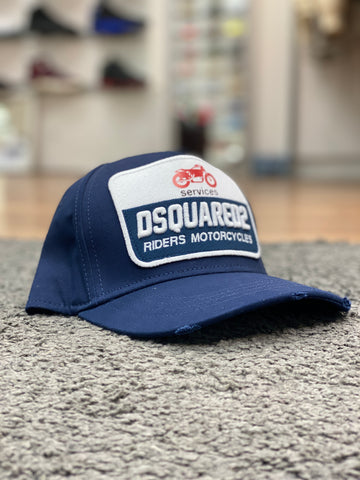 Dsquared2 Motorcycle Cap Navy