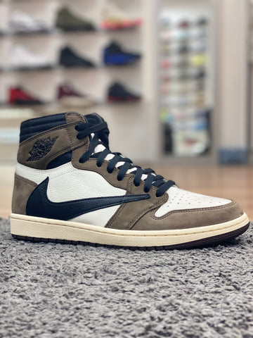 Travis Scott x Air Jordan 1 Backwards Swoosh Mocha
